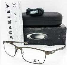 NEW Oakley OX3222 RX Steel Plate Frame Cement OX3222-0256 56mm Metal Rectangle