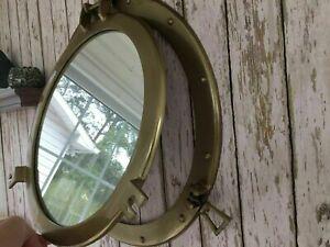 20'' Large Nautical Cabin Wall Decor Porthole Mirror Antique Finish Metal  gift