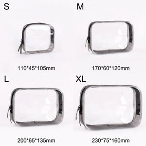 Travel Cosmetic Makeup Bag Transparent Toiletry Case Pouch Organizer/Storage