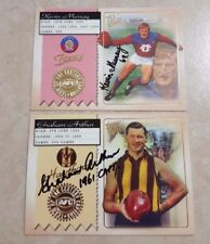 GRAHAM ARTHUR & KEVIN MURRAY HAND SIGNED CAPTAIN TEAM OF THE CENTURY AFL CARDS
