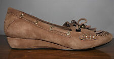 Arturo Chiang Slip On Low Heel Wedge Moccosin Oxford Comfy Shoes Size 7M