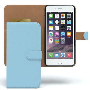 Apple IPHONE 6 Case IPHONE 6S cover Wallet Book Flip Case Light Blue