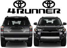 Matte Black Grill & Liftgate Vinyl Decal Inserts For 2010-2018 Toyota 4Runner
