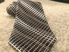Stefano Ricci 100% Silk Necktie Italy Blue White w/ Folded Layers