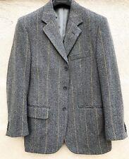 Giacca Uomo Alta Sartoria Ducale Gessata Gray Men Jacket Suit Wool 48