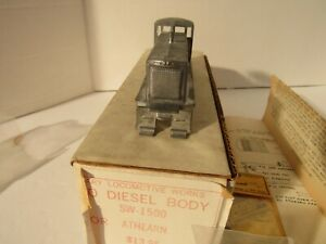 HO CARY LOCOMOTIVE WORKS / METAL SW-1500 DIESEL BODY FOR ATHEARN