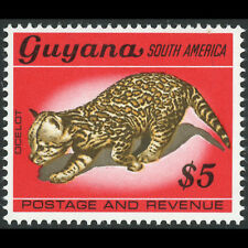 GUYANA 1968 $5 Ocelot. Animal. SG 462. Mint Never Hinged. (AT539A)