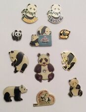 Lot 11 Pin's PANDA Animal Chine China Amoco