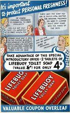 Lifebuoy Soap6 Vintage Advertising Art Print / Poster