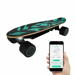 SWAGTRON Kid Electric Skateboard w/ App 9.3mph Max Speed 8 Mile Range Penny Size