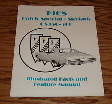 1968 Buick Special Skylark GS Illustrated Facts & Feature Manual Brochure 68