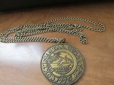 CONTINENTAL CURRENCY 1776 COIN NECKLACE, MIND YOUR BUSINES, WE ARE ONE, VINTAGE