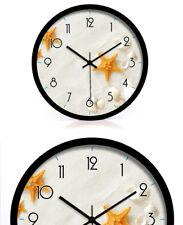 D178 Modern Style Starfish Mute Black Frame Decoration Wall Clock 16 Inch A