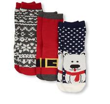 TODDLER  Boys Polar Bear, Santa Suit and Fair Isle Socks 3 Pack size 12-24M