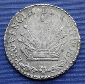 1849 Cordoba, Argentina 2 Reales, 7 Pointed Sun~KM#27, 750 Silver 6g~VF~X232