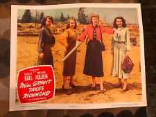 Miss Grant Takes Richmond 1949 Columbiacomedylobbycard Lucille Ball Janis Carter