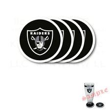 Brand New 4pcs Set NFL Oakland Raiders Heavy Duty Rubber Vinyl Coasters