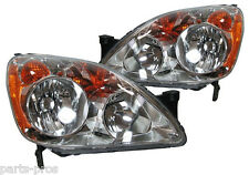 New Replacement Headlight Assembly PAIR / FOR JAPAN-BUILT 2005-06 HONDA CR-V