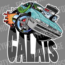 Holden Vinyl Stickers - VL V8 Calais Blue