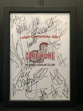 More details for leigh centurions 2021 hand signed framed a4 autograph sheet