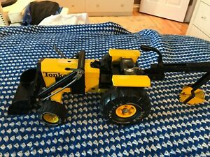 VINTAGE YELLOW AND BLACK TONKA BACK HOE/TRACTOR