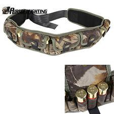Tactical 25Round 12GA Shotgun Shell Belt Hunting Waist Ammo Holder with 7 Pouch