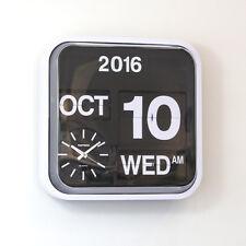 "Fartech Retro Modern 17"" Calendar Auto Flip Desk Wall Clock"