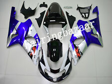 Fit for GSXR1000 2000-2002 Black Blue Silver ABS Injection Bodywork Fairing Kit