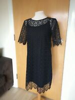 Ladies Dress Size 12 NEXT Black Lace Party Evening Wedding Races