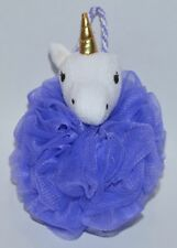 NEW BATH & BODY WORKS PURPLE UNICORN SHOWER SPONGE LOOFAH POUF SOFT STRAP CUTE