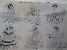Tri-Chem Dolls Of The World Quilt Blocks To Paint/Embroider #2371-20 Of 13x13 In