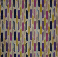 Furoshiki Wrapping Cloth Japanese Fabric Beige 'Yagasuri Arrow' Cotton 50cm