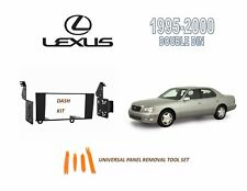 NEW Fits 1995-2000 LEXUS LS400 SERIES Car Stereo Double DIN Dash Kit, Harness
