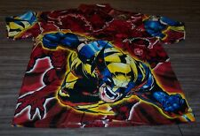 Marvel Comics X-men WOLVERINE Button Down Dress Shirt LARGE NEW 100% Polyester