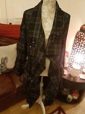 💖💜❤Jasper Conran Black Check Wool Coat 18 💖💜❤