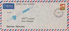 Stamp Australia 18c flower British Skylark Woomera launch souvenir airmail FDC
