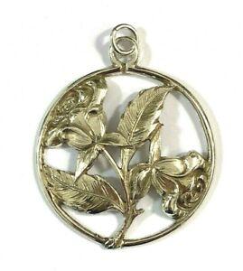 Alter Silberanhänger rund Rosen Blumen Jugendstil? 800er Silber Anhänger 4,9 cm
