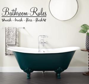 Bathroom Rules  Bathroom Wall Art Decal