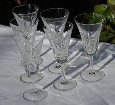 Villeroy et Boch - Service de 6 verres à vin rouge en cristal taillé Signés