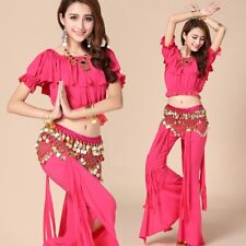 Belly Dance Training Costumes Set Tribal Dancer Outfit Yoga Mermaids Pants