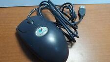 Used Logitech M-BD58 Blue 3 Button USB Optical Mouse