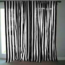 "Cotton 2"" Stripe Print Curtain Panel Home Decor/Window Treatment/Backdrop"
