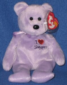 TY I LOVE SINGAPORE the BEAR  BEANIE BABY - MINT with NEAR PERFECT - SEE PICS
