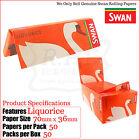 Swan Regaliz Cigarrillo NORMAL/Estándar papeles de liar 25 paquetes-50