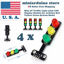 4pcs Mini-Traffic Light 5V 5mm LED Display Module for Arduino Creative DIY Kit