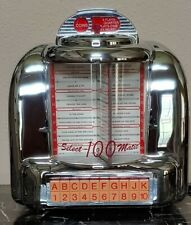 Spirit of St. Louis Select-A-Matic 100 Jukebox Diner Style AM FM Casette Chrome