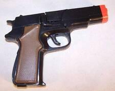 BLACK 45 MAG PLASTIC 8 SHOT CAP GUN PISTOL new  classic Prop Gun