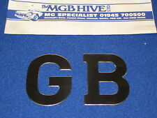 MG UNIVERSAL STAINLESS STEEL SELF ADHESIVE GB LETTERS   GB  BADGE     EB67