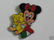 Baby Minnie Mouse with Yellow Teddy Bear Lapel Pin  (103)