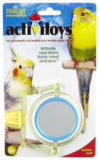 JW PET INSIGHT DOUBLE AXIS WITH MIRROR BIRD TOY PARAKEET COCKATIEL.FREE SHIP USA